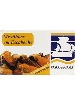 Fish Tin Mussels in Pickled Sauce Vasco Gama 118g