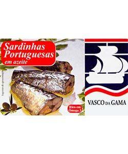 Fish Tin Small Sardines in Tomatoe & Piri Piri Vasco Gama 90g