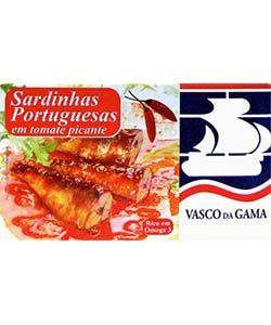 Fish Tin Sardines Tomatoe & Piri Pirt Vasco Gama 120g